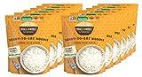 Miracle Noodle Plain Shirataki/Konjac Noodles - Vegano, sin gluten (pelo de ángel, 12 paquetes)