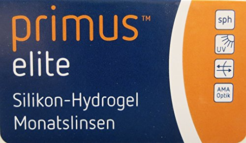 Primus Elite Silikon-Hydrogel Monatskontaktlinse 6 Stückk 8.60/-03.50