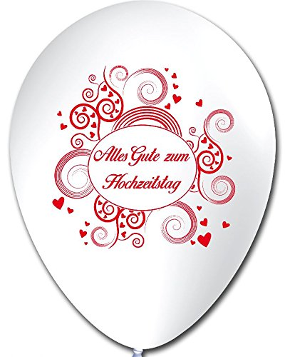 Unbekannt 10 Luftballons Alles Gute zum Hochzeitstag , ca. 30 cm Durchmesser