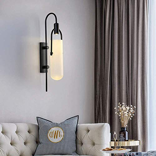 YANQING Duurzame Post-moderne Glas Wandlamp Woonkamer Wanddecoratie Creatieve Lamp Slaapkamer Slaapbank Persoonlijkheid Wandlamp 21 * 80cm Verlicht Uw Leven (Kleur : Lang), Kleur: Kort