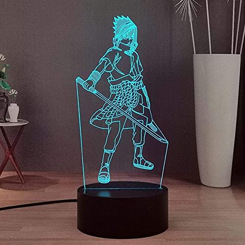 Naruto japonés anime 3D LED noche Power Knife Uchiha Smart Touch y T & Amp Ecutecommand 16 colores habitación noche regalo cumpleaños niños niños y niñas