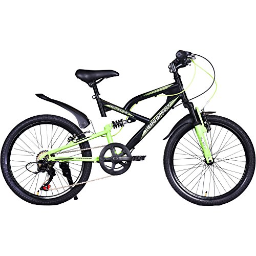 Hero Flake 20T 6 Speed Cycle (Black Green, Ideal For :7 to 9 Years )