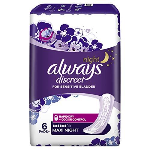 Always Discreet For Sensitive Bladder 6 pads Maxi Night