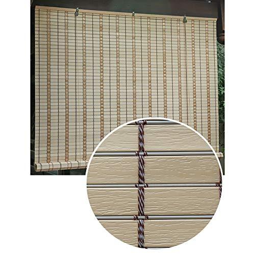 HWF Persiana Enrollable 100% Impermeable Sombra Exterior de Rodillo, Enrollar Persianas de Sombra para Terraza de Patio Al Aire Libre Porche Pérgola Gazebo Balcón, 85cm / 105cm / 125cm / 145cm Ancho