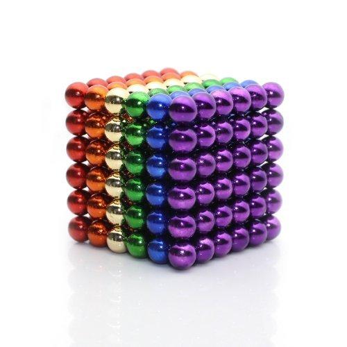 QUCHENG Oficina de la Escuela, Pizarra, Clavos magnéticos, Rompecabezas para jóvenes, Escritorio, partículas de Traje de descompresión magnética 3D (6 Colores)