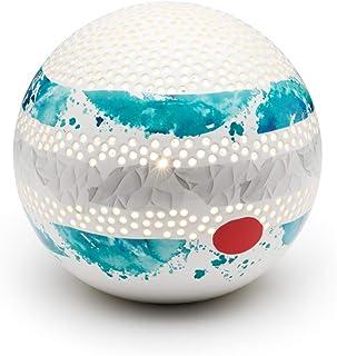 Lampada in Ceramica JUPY con Cromoterapia, decoro Acquerello