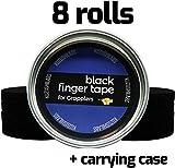 Schwarzes Finger Tape (8er Packung) Mit Gehäuse für Brasilianisches Jiu-Jitsu BJJ, Grappling, Judo, Klettern 0,76cm x 13,7m / 0,3 Zoll x 45ft von Kuzushi Labs