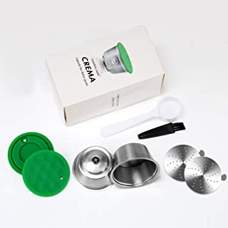 MG Coffee 2 pcs Stainless Steel Dolce Gusto Refillable Capsules Coffee Filters Reusable Coffee Pods Compatible for Dolce Gusto Mini Me Genio Piccolo Esperta Circo (Silver)