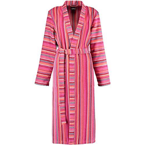 Michaelax-Fashion-Trade Cawö - Damen Bademantel Kimono mit Streifen (6130), Größe:44, Farbe:Koralle (28)