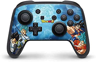 Skinit Decal Gaming Skin for Nintendo Switch Pro Controller - Officially Licensed Dragon Ball Super Goku Vegeta Super Ball Design
