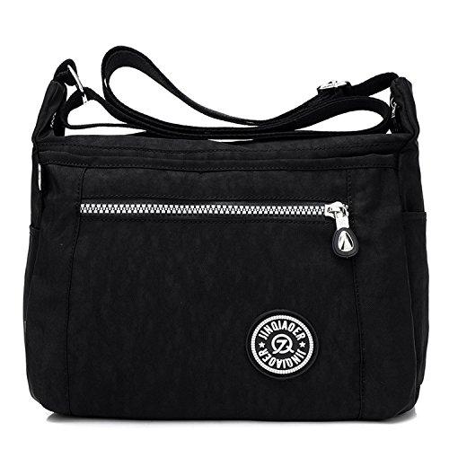 Foino Umhängetasche Leichter Kuriertasche Wasserdicht Schultertasche Damen Taschen Designer Strandtasche Sporttasche Messenger Bag für Reisetasche