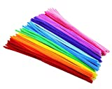Rimobul Creative Arts Chenille Stem Class Pack,6 mm x 12 Inch, Rainbow Colors, Pack of 100