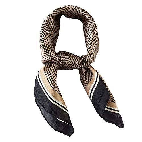 nobrand Vintage Welsh Plaid Seidenschal quadratischer Schal alle Arten von Schal 53cm 100% Seide
