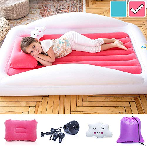 Sleepah Inflatable Toddler Travel Bed – Inflatable & Portable Bed Air Mattress Set –Blow up...