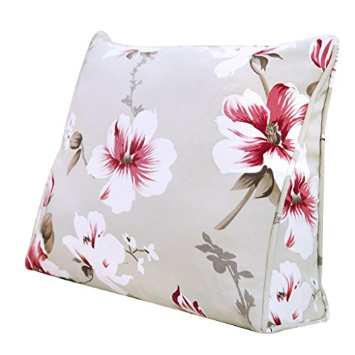 Chi Cheng Fang Electronic business Lumbar Pillows Plant flower simulation silk triangle cushion color bedside pillow office lumbar pillow car backrest best gift (Size : 605025cm)