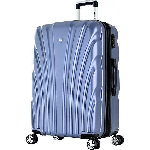 Olympia USA Vortex 29 Inch Expandable Hardside Checked Spinner Luggage (Icy Blue)