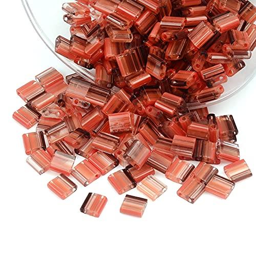 zz 20pcs 2 Agujeros 5x5x2MM Cristal checo Semilla Perlas para Hacer Joyería Separador Suelto Cuentas Cuadradas DIY Charm Borla Pulseras Collar Material YC806 (Color: XT30)