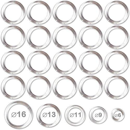 Faire des Rideaux Anneaux Plastiques Transparents pour Confection et Bricolage diamètre 11mm - Lot de 100
