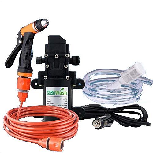 CONRAL Auto Wasser Waschpumpe Sprüher Installationssatz Werkzeug, tragbarer 12V 70W selbstansaugender Hochdruckreiniger-Reinigungsapparat-Reinigungssatz Spritzpistole Rohr-elektrischem Waschungssatz