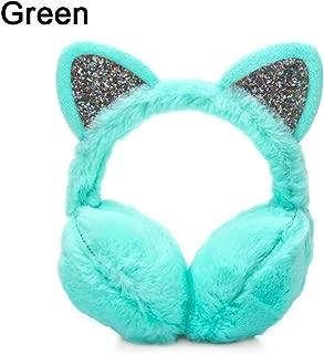 DE Wintermode wärmer Stirnband Damen Plüsch Glitter Katze Ohrenschützer Outdoor#