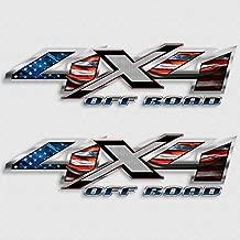 American Flag 4x4 Silverado Sierra Truck Decal Set USA Patriot Sticker