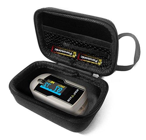 Best Buy! FitSand Hard Case Compatible for Acc U Rate Premium Fingertip Pulse Oximeter Blood Oxygen ...