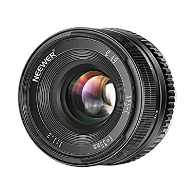Neewer 35mm F1.2 Large Aperture Prime APS-C Aluminum Lens for Sony E Mount Mirrorless Cameras A7III,A9,NEX 3,3N,5,NEX 5T,NEX 5R,NEX 6,7,A5000,A5100,A6000,A6100,A6300,A6500 by Neewer