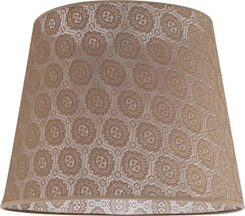 Lampenschirm groß aus gehäkelter Spitze Ø38cm für Stehlampe E27 Stoff Schirm Stehleuchte