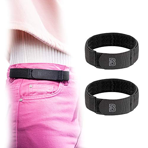 BeltBro Women's 2 Large No Buckle Elastic Belt — Fits 1 Inch Belt Loops, Comfortable and Easy To Use
