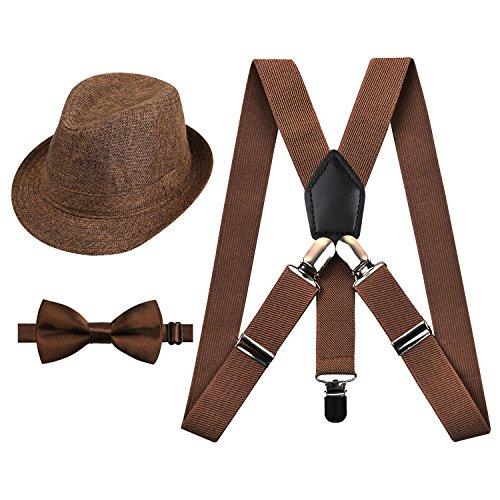 Alizeal Básico-Tirantes, pajarita y Sombrero para Niños Ca