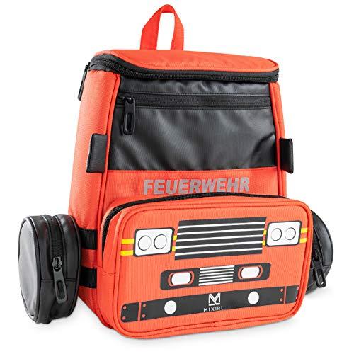 MIXIRL® 2in1 Kindergartenrucksack mit Federmäppchen Jungen | 3-7 Jahre | hochwertiger Kinderrucksack mit Brustgurt - wasserdicht & reflektierend - ideal für Wanderungen, Kita & Kindergarten