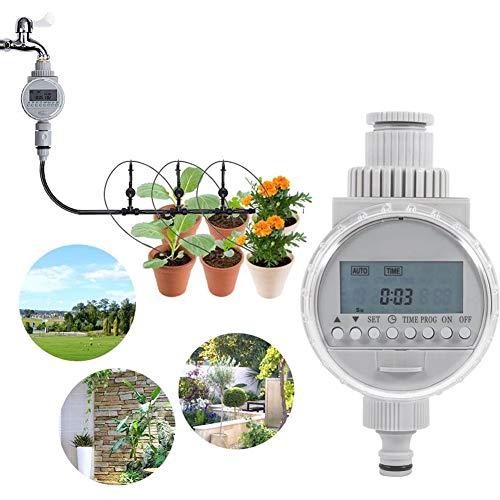Solarenergie Automatisch Bewässerungsuhr Bewässerungstimer Bewässerungsregler Solarbetrieben Automatisch Garten Bewässerung mit LCD Digital Schirm