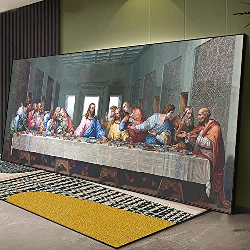 Impresiones para Paredes 50x150cm sin Marco Da Vinci Reproducción de Pintura Famosa La última Cena Póster de Pintura e Impresiones Arte de la Pared Cuadros Imagen
