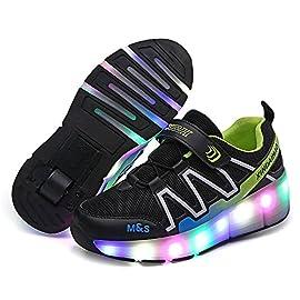Automtica-Ruedas-Ajustables-LED-Zapatillas-con-Luces-Ruedas-Color-Deporte-Zapatos-de-Skate-Roller-Deportivos-Zapatos-Trainers-Monopatn-Sneaker-para-Nios-Nias