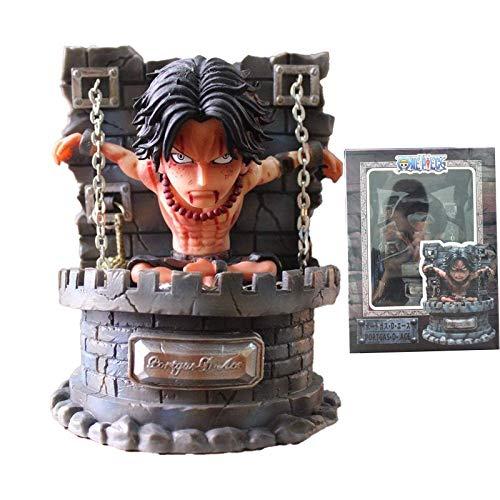 HEWE ACE-Figuren, Portgas D Ace Standard-Modellversion, animierte Charakter-Statue, Weltfigur als Geschenk 6.3in