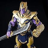 AMrjzr Muñecas Hechas a Mano Marvel Armor Version Thanos Modelo de Juguete móvil Decoración Animació...