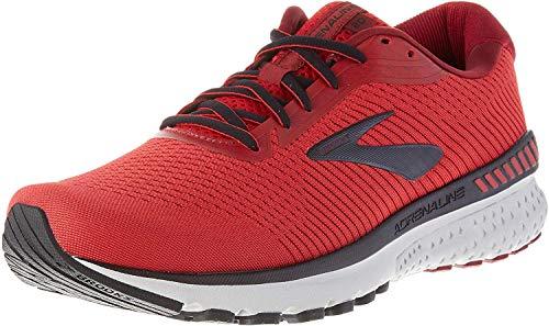 Brooks Men's Adrenaline Gts 20 Running Shoe, Red Black Grey, 6 UK (40 EU)