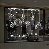 Autocollant mural de noël décor à la maison magasin fenêtre décoration suspendu Jingle Bell flocon de neige renne papel de...