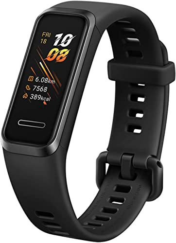 Huawei Band 4 (Black, Creative Watch Faces, Easy Built in USB Charge, Health Monitoring,SpO2 Monitoring,Outdoor & Ind...