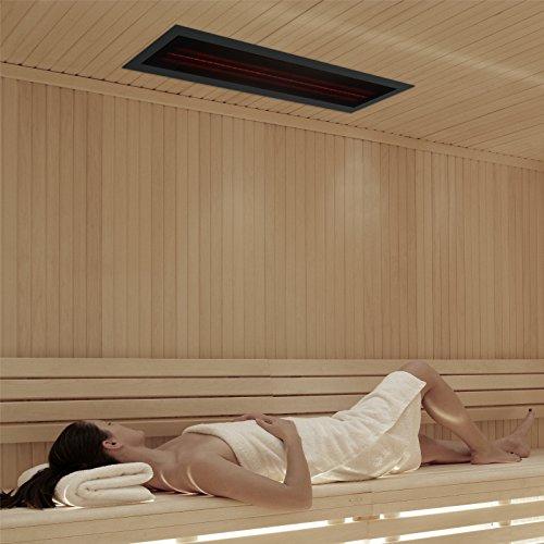 Infrarotstrahler GKR-AR Glaskeramik RotLicht  Sauna inkl Abdeckrahmen Tiefenwärmestrahler Bild 3*