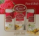 Das ideale Geschenk für Freude machen Hat der rosa damascena-Extrakt und Arganöl Bio Tagescreme und Nachtcreme, 50ml Body Lotion 150ml Shampoo 150ml