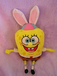 "Spongebob Squarepants Stuffed 10"" Easter Doll with Bunny Ears"