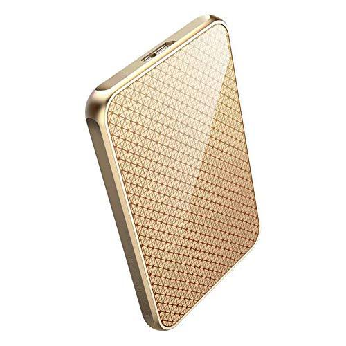 External Hard Drives HDD High-speed Transmission USB3.0 128GB/256GB/512GB/1TB Mini Portable Metal 1.8 Inches External Hard Drive Golden (128GB)