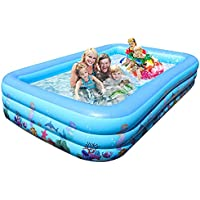 Haptime Inflatable Large Family Swimming Pool (103 X 67.7 X 21.6 inch)