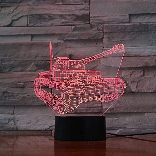 Led 3D Nachtlicht Dekoration Lampe Für Schlafzimmer Zimmer Party Festival Panzer 7 Farbwech Mit Usb-Ladegerät Ändern Berühren Sie Schreibtisch Lampe Für Kinder Weihnachten Geburtstag Geschenk