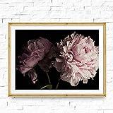 EPSMK Tableau décoratif sur Toile Image Toile Peinture Fleur Pivoine Bouquet Affiche Imprimer pour Salon Home Wall Art Decor 20x24inch