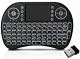 DRODRM Mini 2.4Ghz Wireless Bluetooth Touchpad Keyboard with 360 Degree Flip, USB Drive Port...