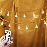Battery Operated String Lights 33ft 80 Led Globe String Lights Battery Powered with Remote Control for Bedroom Home Wedding Room Wall Christmas Decor Indoor Outdoor Patio Lights Warm White