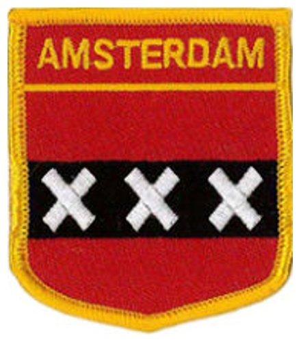 """Amsterdam (escudo) bordado parche 6cm x 7cm (21/2""""x 23/4"""