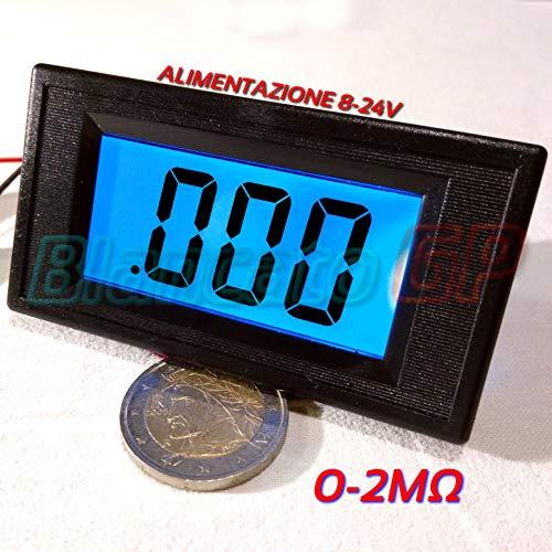 Ohmmeter Digital LCD Panel mit blauer LED 0-2MOhm DC Ohmeter ohmmeter panel
